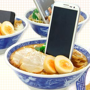 ramen bowl phone/table stand