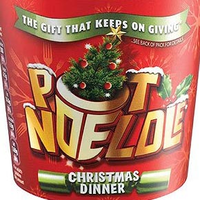 Pot Noeldle, the turkey and stuffing flavored instant noodles